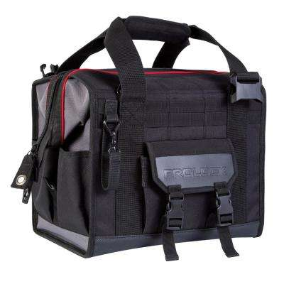 12 in. Broad Mouth Tool Bag with 19-Pockets