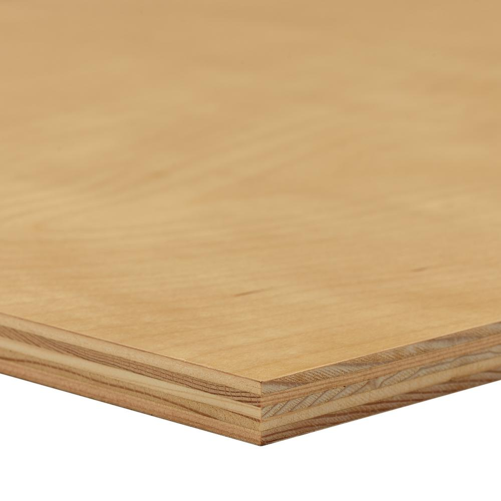 Dimensions UV Birch Plywood (Common: 3/4 in. x 2 ft. x 4 ft.; Actual: 0.703 in. x 23.75 in. x 47.75 in.)