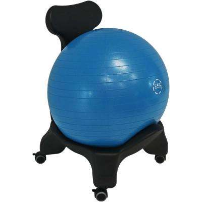 Blue Polyethylene Plastic Yoga Ball Balance Chair with Pump