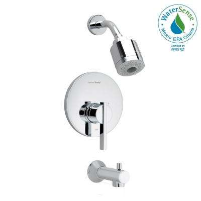 Berwick 1-Handle Tub and Shower Faucet Trim Kit in Polished Chrome (Valve Sold Separately)