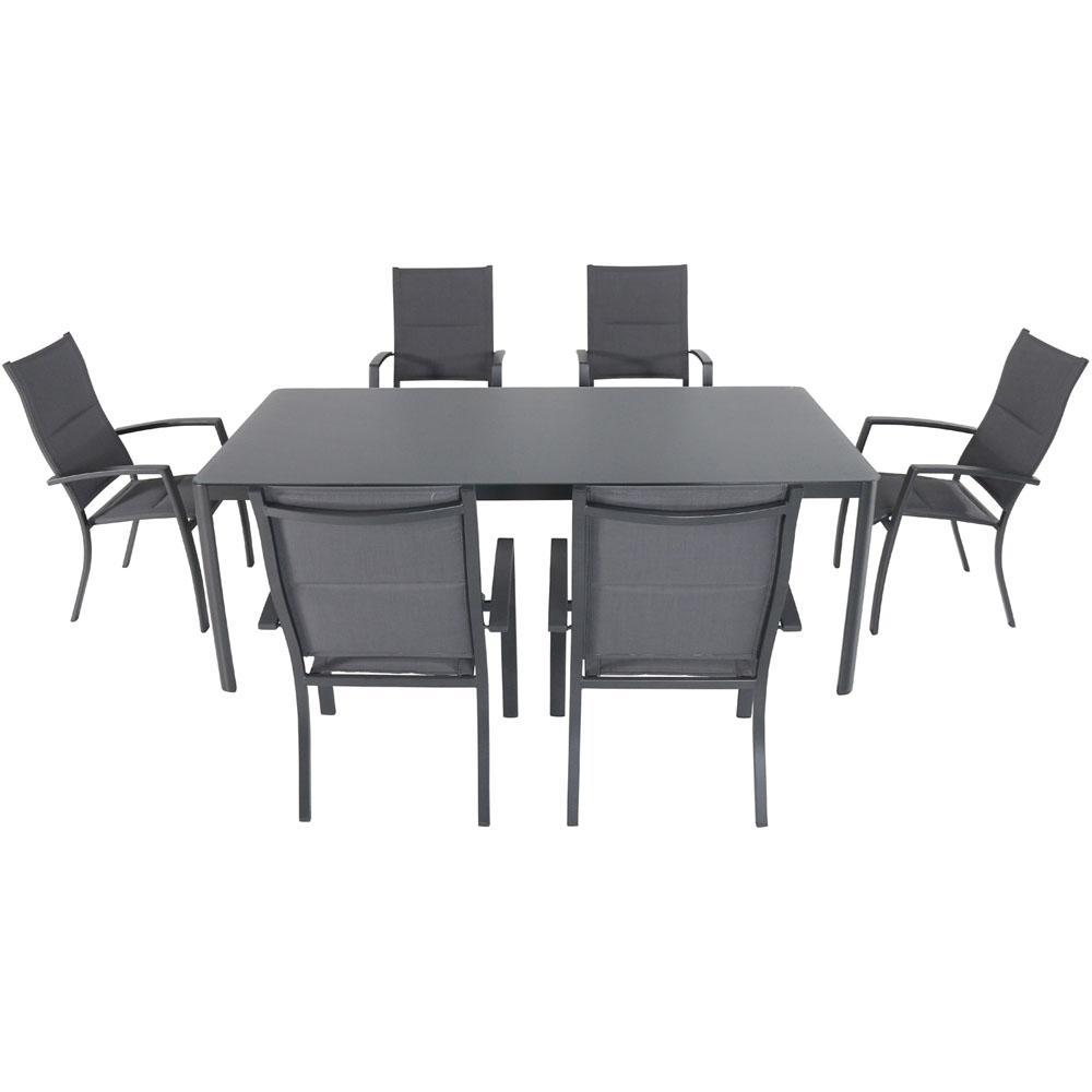 Cambridge Mesa 7 Piece Aluminum Outdoor Dining Set With 6