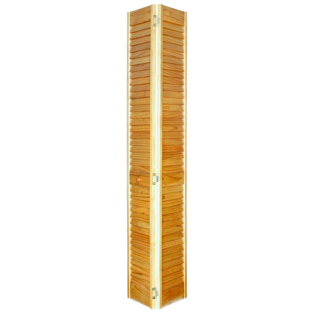 Home fashion technologies 32 in x 80 in louver louver for Natural wood doors interior