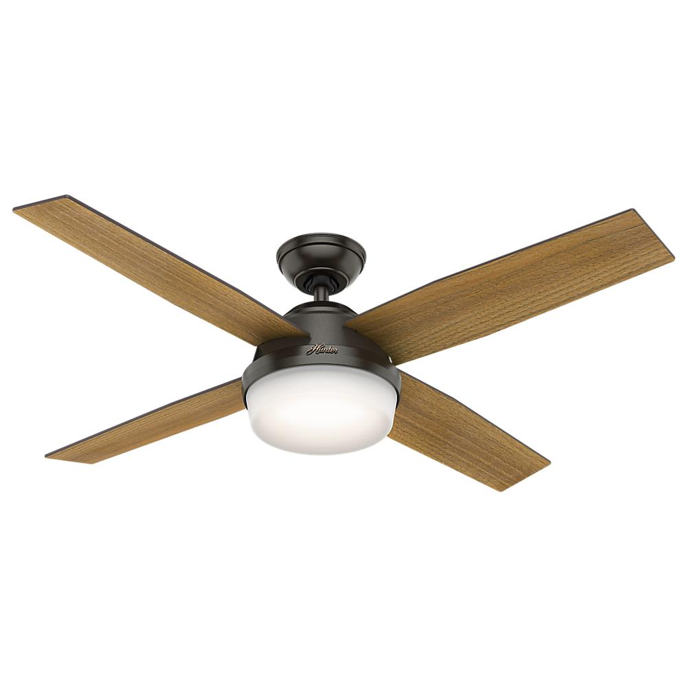 Dempsey 52 in. LED Indoor Noble Bronze Ceiling Fan with Light