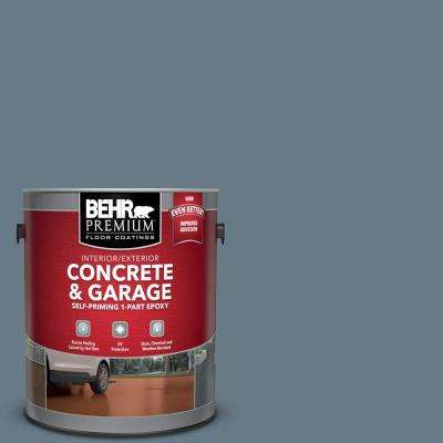 1 gal. #N490-5 Charcoal Blue Self-Priming 1-Part Epoxy Satin Interior/Exterior Concrete and Garage Floor Paint
