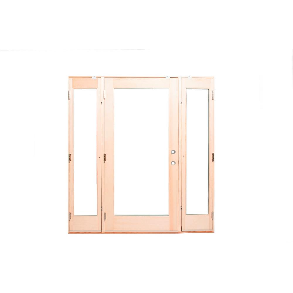 Ashworth 72 In X 80 Pro Series White Full Lite Painted Wood Prehung Front Door With Venting Sidelites