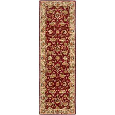 John Red 3 Ft X 12 Runner Rug