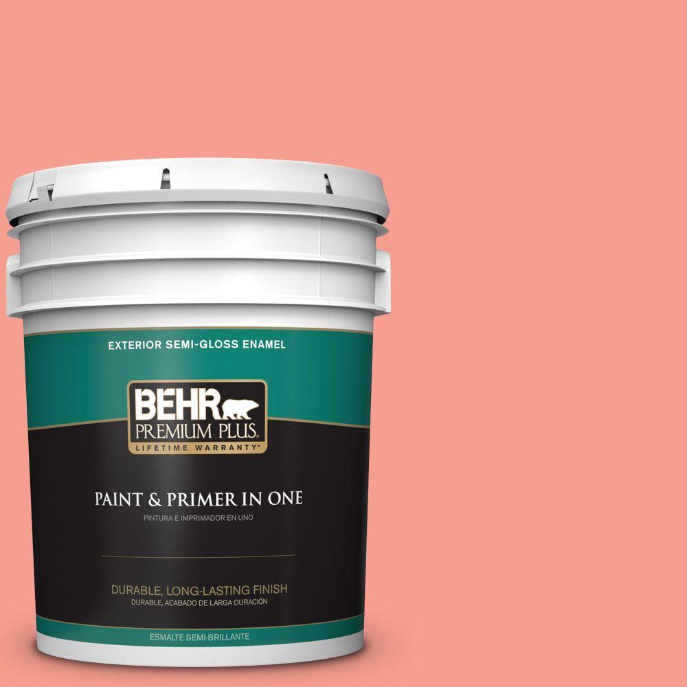 BEHR Premium Plus 5-gal. #180B-4 Fruit Shake Semi-Gloss Enamel Exterior Paint