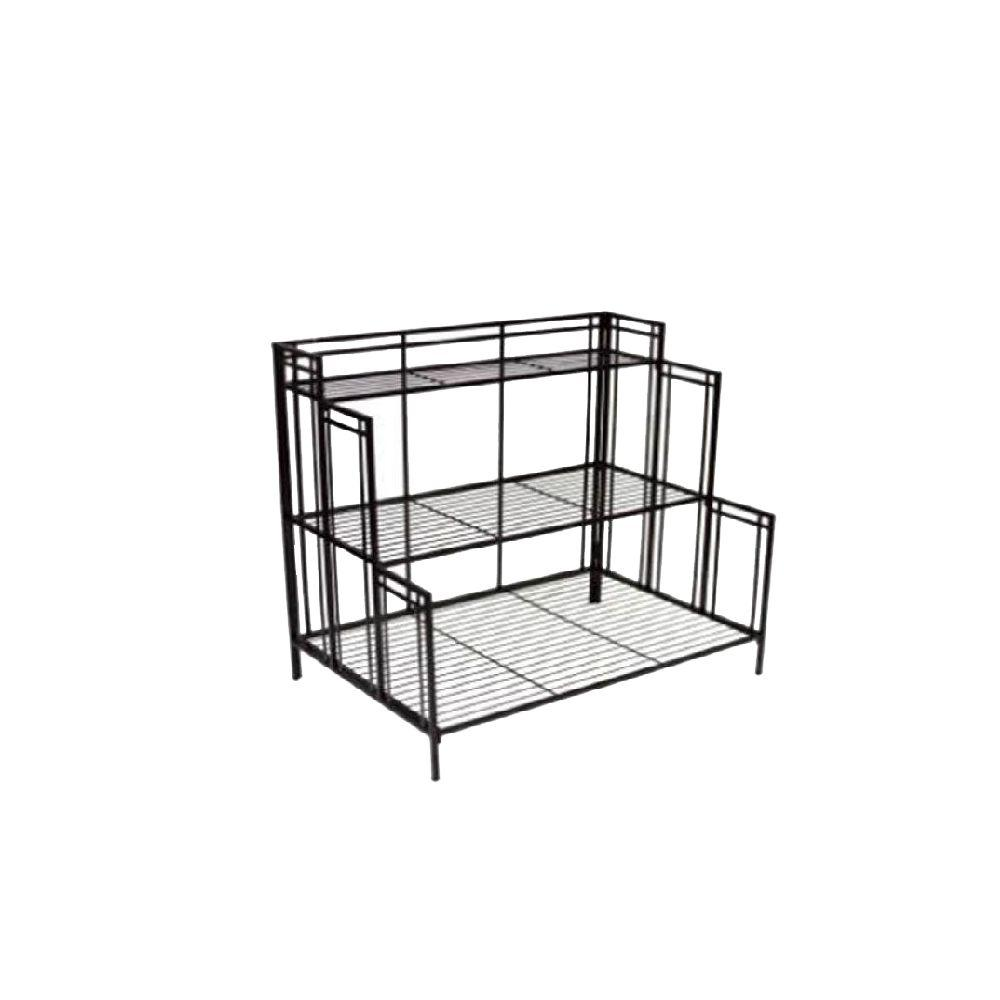 Patio Life Mission Pro 24.5 in. x 35 in. Black Steel Plant Stand
