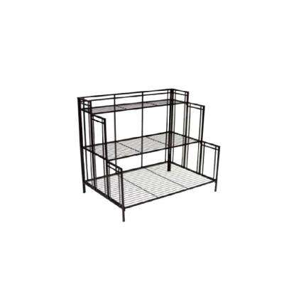 Mission Pro 24.5 in. x 35 in. Black Steel Plant Stand