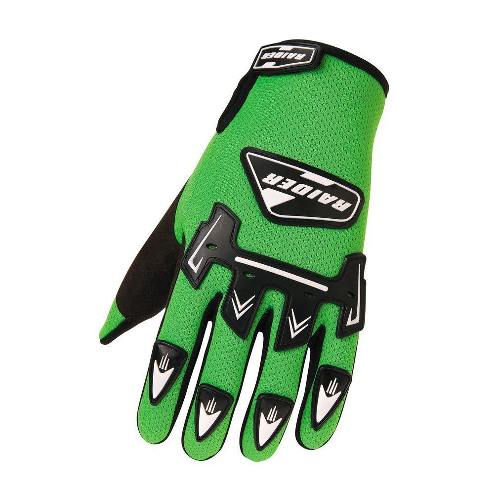 Raider Youth MX Medium Glove in Green