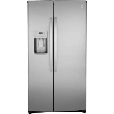 25.1 cu. ft. Side by Side Refrigerator in Stainless Steel, Fingerprint Resistant