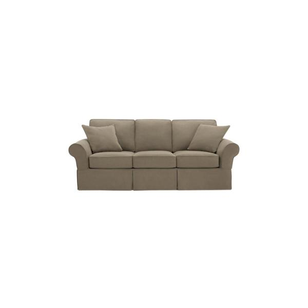 Hillbrook Essence Sage Green Straight Slipcovered Sofa (87.5 in. W x 36.5 in. H)