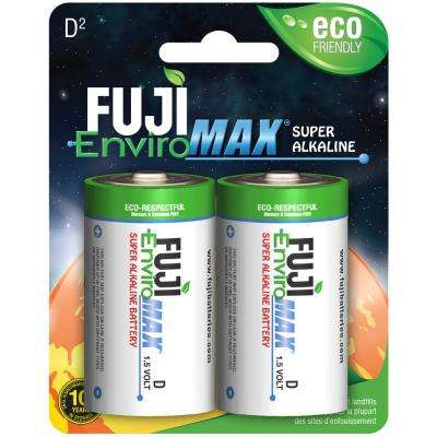 Super Alkaline D Battery (2 per Pack)