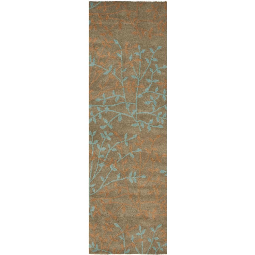 Soho Light Brown/Multi 2 ft. 6 in. x 8 ft. Runner