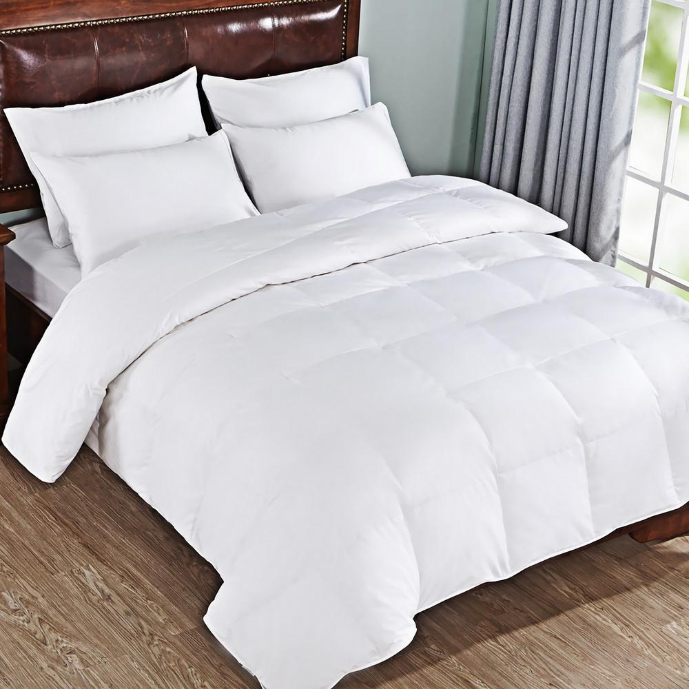 600 Fill Power White King Goose Down Comforter
