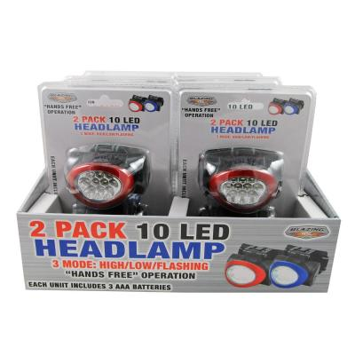 Battery Operated 10 LED Headlamp (2-Pack)