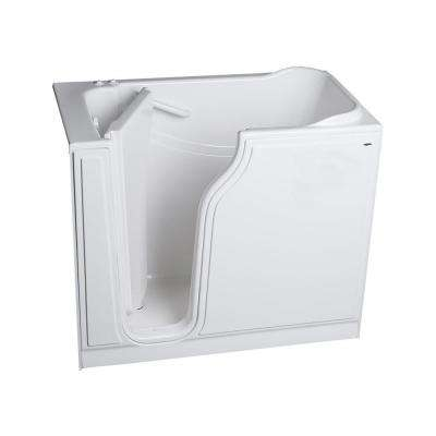 Gelcoat Standard Series 52 in. x 30 in. Left Hand Walk-In Whirlpool and Air Bath Tub in White