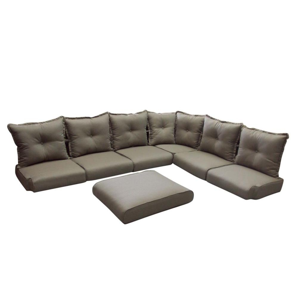null Summer Silhouette Replacement Outdoor Sectional Cushion Set-DISCONTINUED