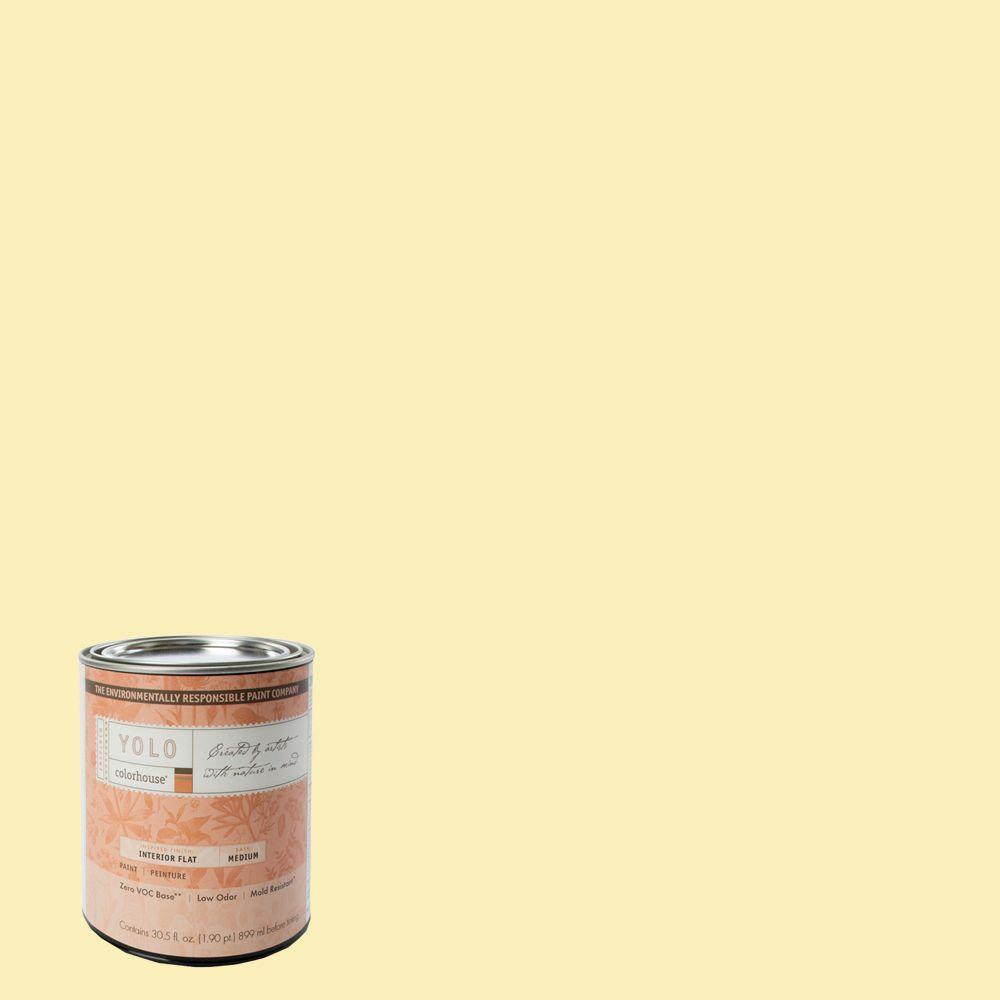 YOLO Colorhouse 1-Qt. Aspire .01 Flat Interior Paint-DISCONTINUED