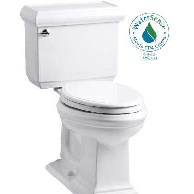 Memoirs Classic 2-Piece 1.28 GPF Single Flush Elongated Toilet in White with Cachet Q3 Toilet Seat