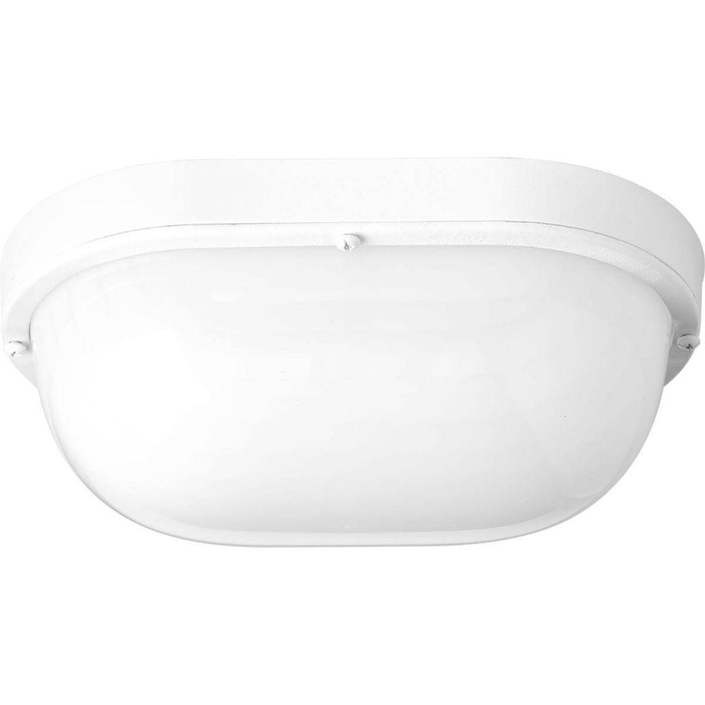 Details About Progress Lighting Wall Fixture 1 Light Bulkhead White Led 9 Watt Polycarbonate