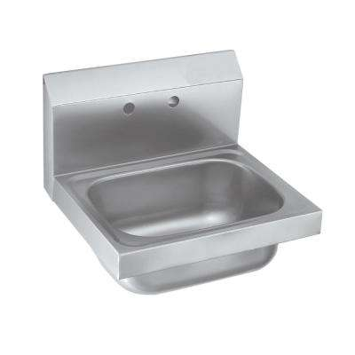 Freestanding Stainless Steel 15-3/4 in. x 15 in. x 13 in. 2-Hole Siver Single Bowl Kitchen Sink with Faucet