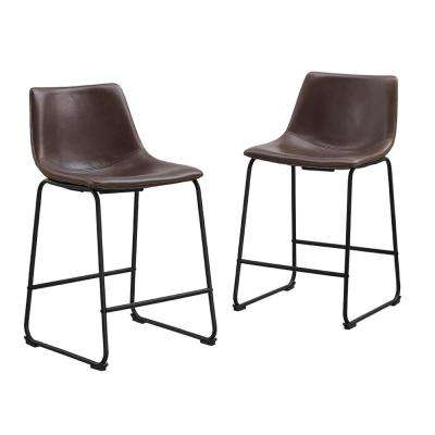 Wasatch 36 in. Brown Bar Stools (Set of 2)