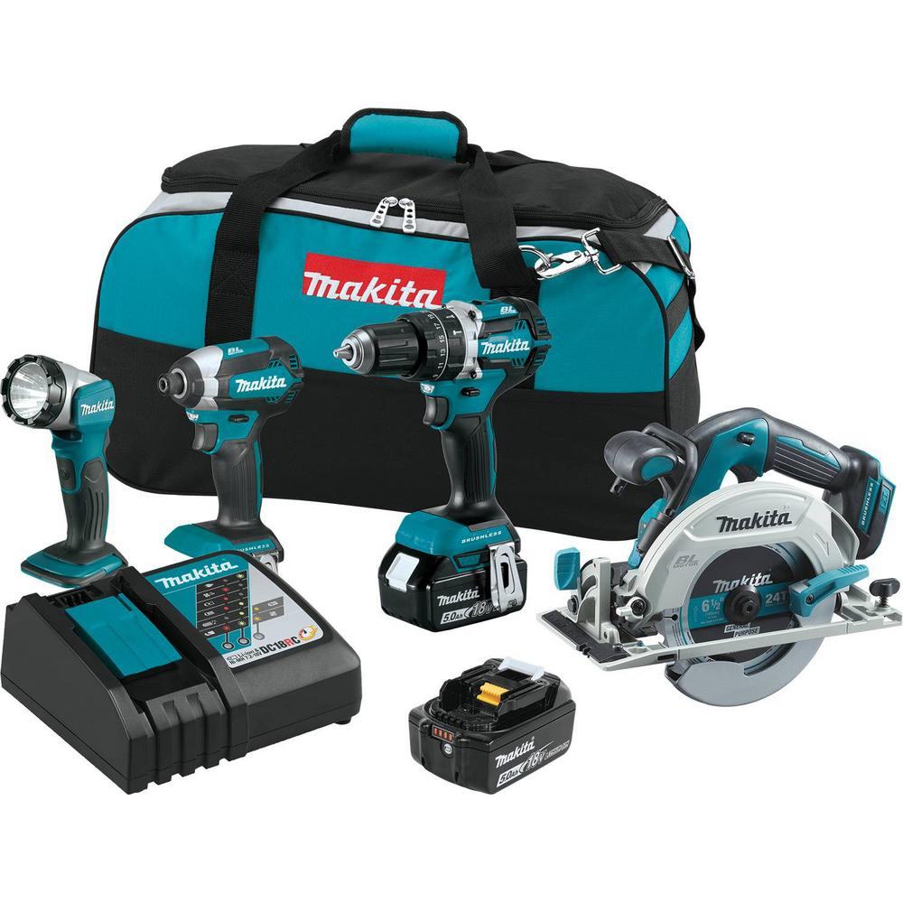18-Volt LXT Lithium-Ion Brushless Cordless Combo Kit Hammer Drill/ Impact