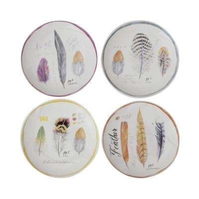 Multicolor Stoneware Plates (Set of 4)