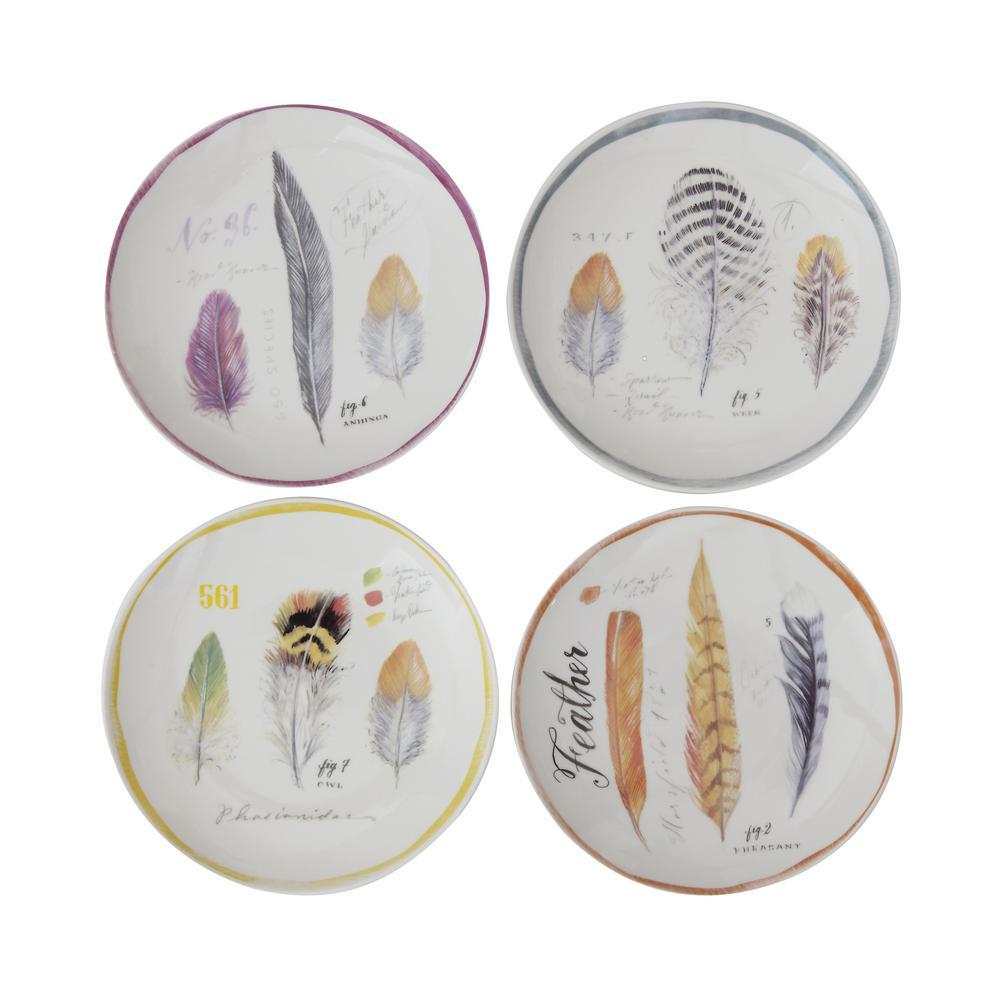 Multicolor Stoneware Plates (Set of 4)