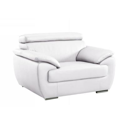 Charlie Captivating White Leather Chair