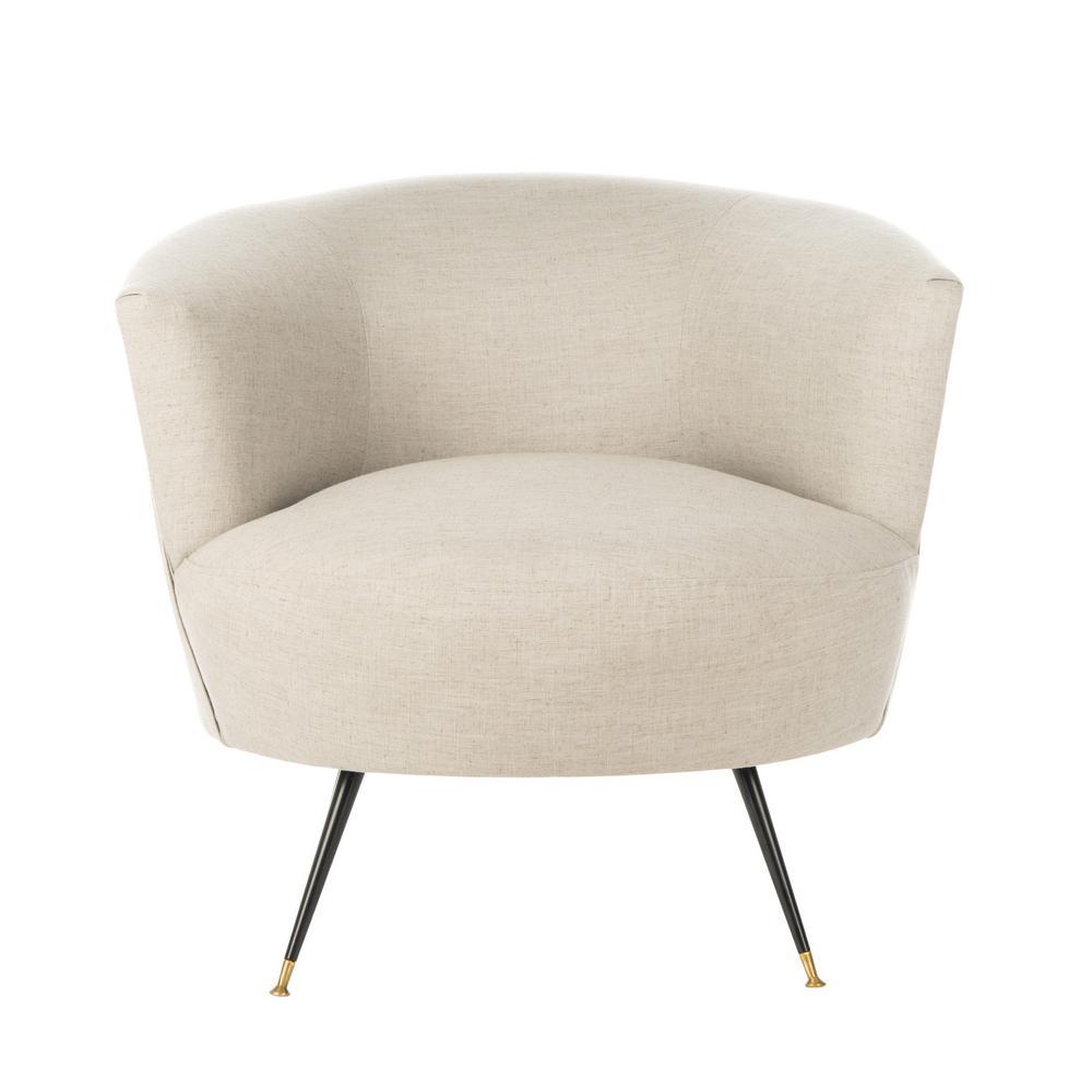 Safavieh Arlette Light Gray Accent Chair FOX6257C
