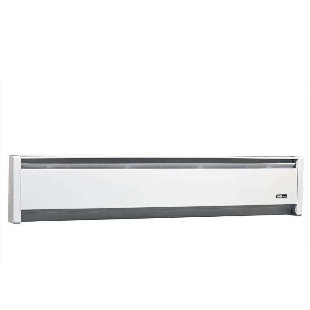 SoftHEAT 83 in. 1500/1125-Watt 240/208-Volt Hydronic Electric Baseboard Heater