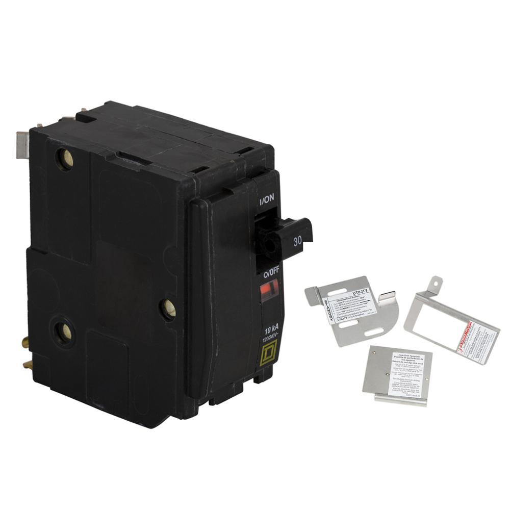 Square D Qo 30 Amp 2 Pole Circuit Breaker Bundle With 150 225 Amp Load Center Indoor Generator Interlock Kit Qo230cgk2c The Home Depot