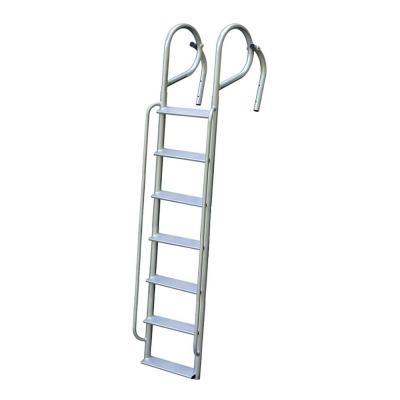 7-Rung Wide Step Aluminum Swing Ladder with Handrails