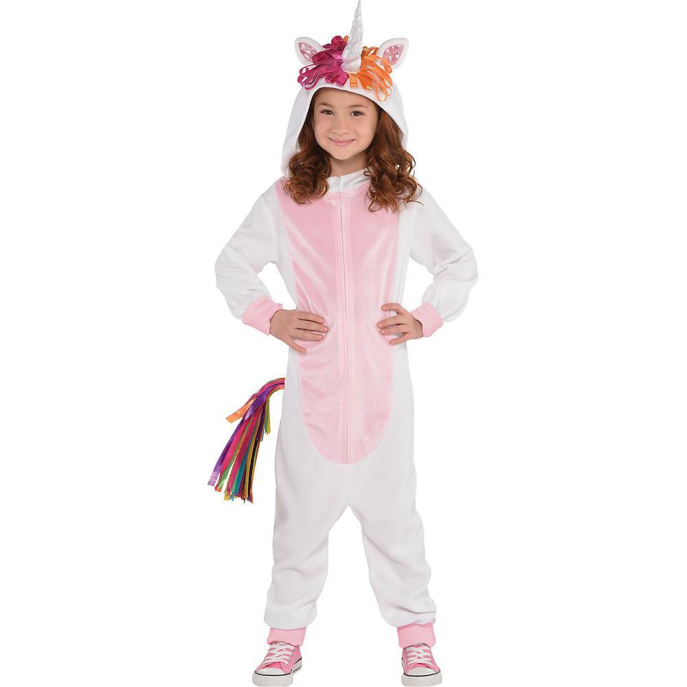 amscan kid's unicorn zipster halloween costume, medium-8400734 - the