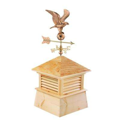 Kent 18 in. x 21 in. x 46 in. Wood Cupola with Cottage Eagle