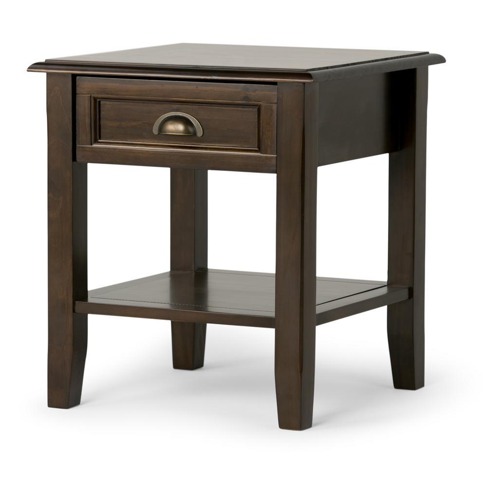 Bon Simpli Home Burlington Rich Espresso Storage End Table