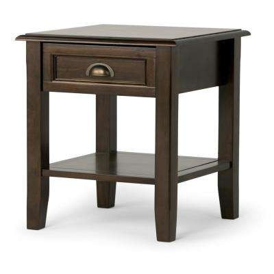 Burlington Rich Espresso Storage End Table