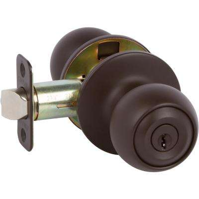 Fairfield Classic Style Oil Rubbed Bronze Round Shape Entry Door Knob And Single Cylinder Deadbolt Keyed Alike
