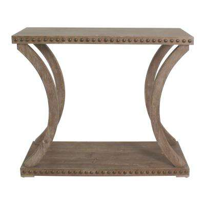 Paisley Natural Oak Riveted Console