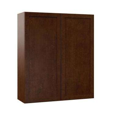 Soleste Assembled 36x42x12 in. Wall Kitchen Cabinet in Spice