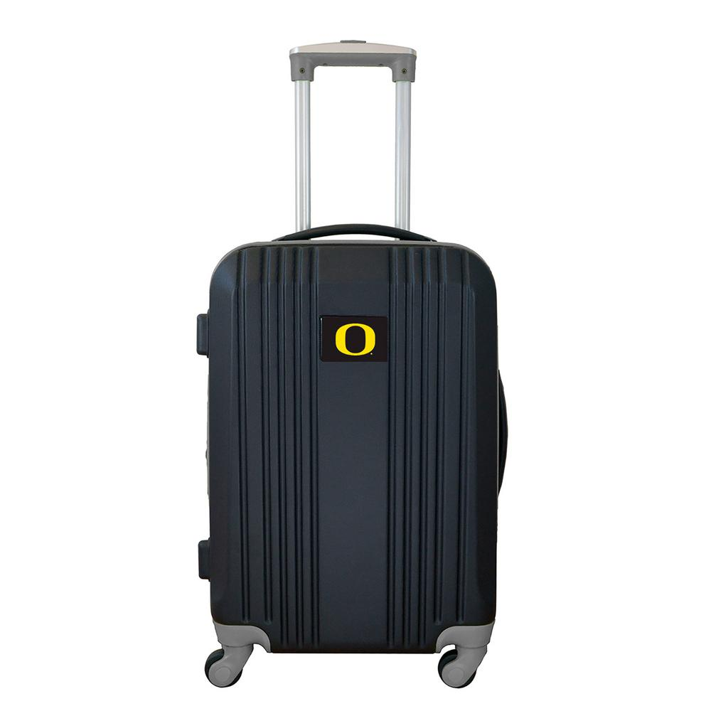 c9ad2fde3136 Denco NCAA Oregon 21 in. Black Hardcase 2-Tone Luggage Carry-On Spinner