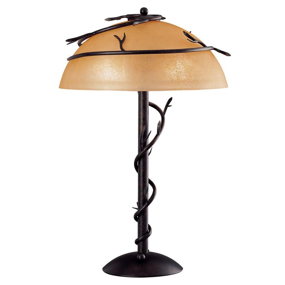 Kenroy Home Twigs 25 in. Bronze Table Lamp