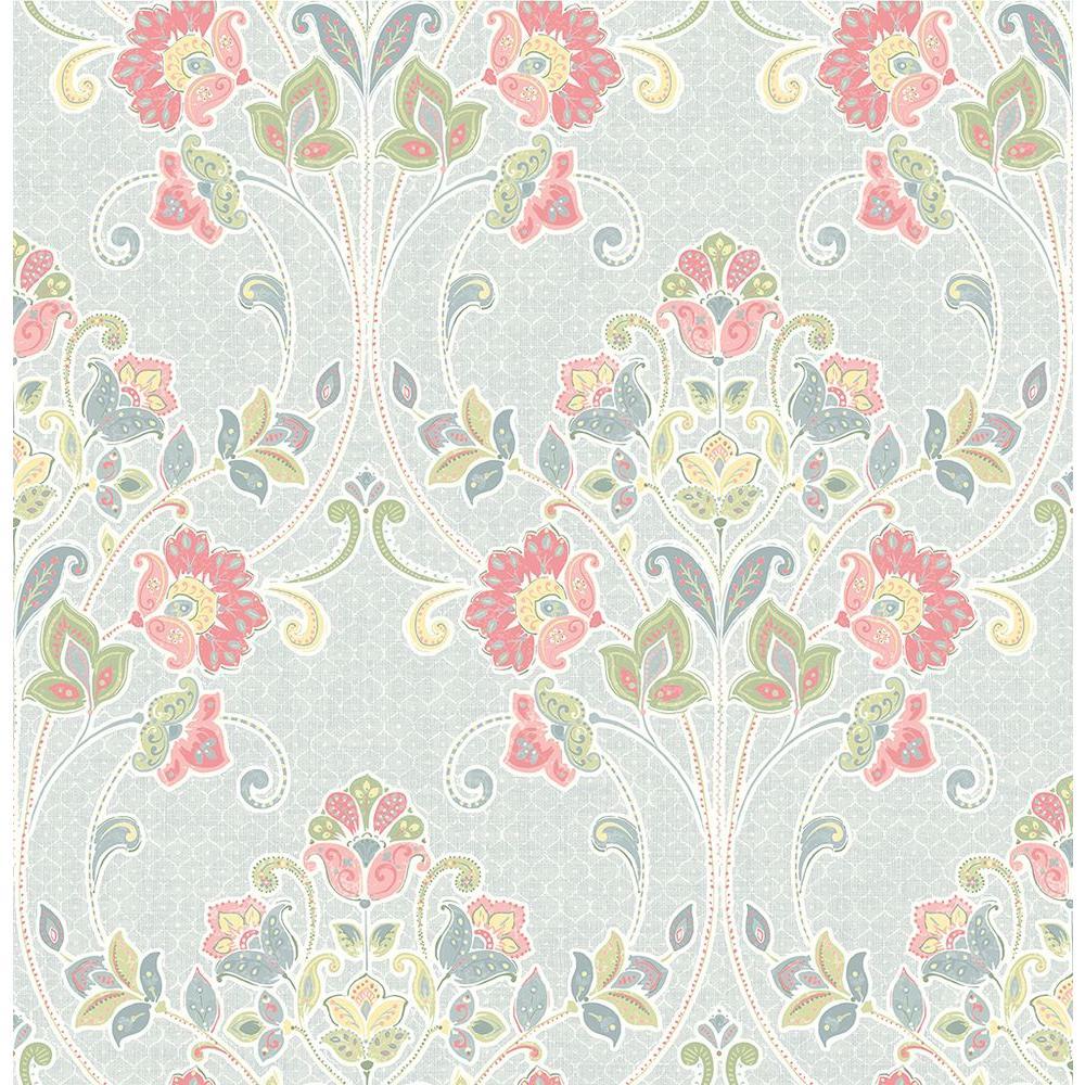 A-Street Willow Sky Nouveau Floral Wallpaper 1014-001806