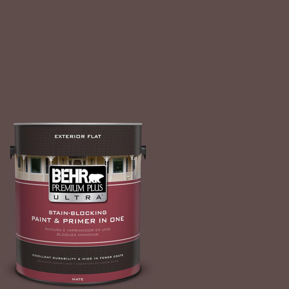 1-gal. #720B-7 Spanish Raisin Flat Exterior Paint