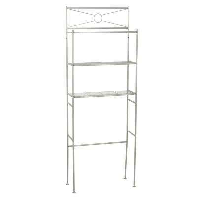 23.25 in. W x 64.7 in. H Cross-Style Space Saver in White