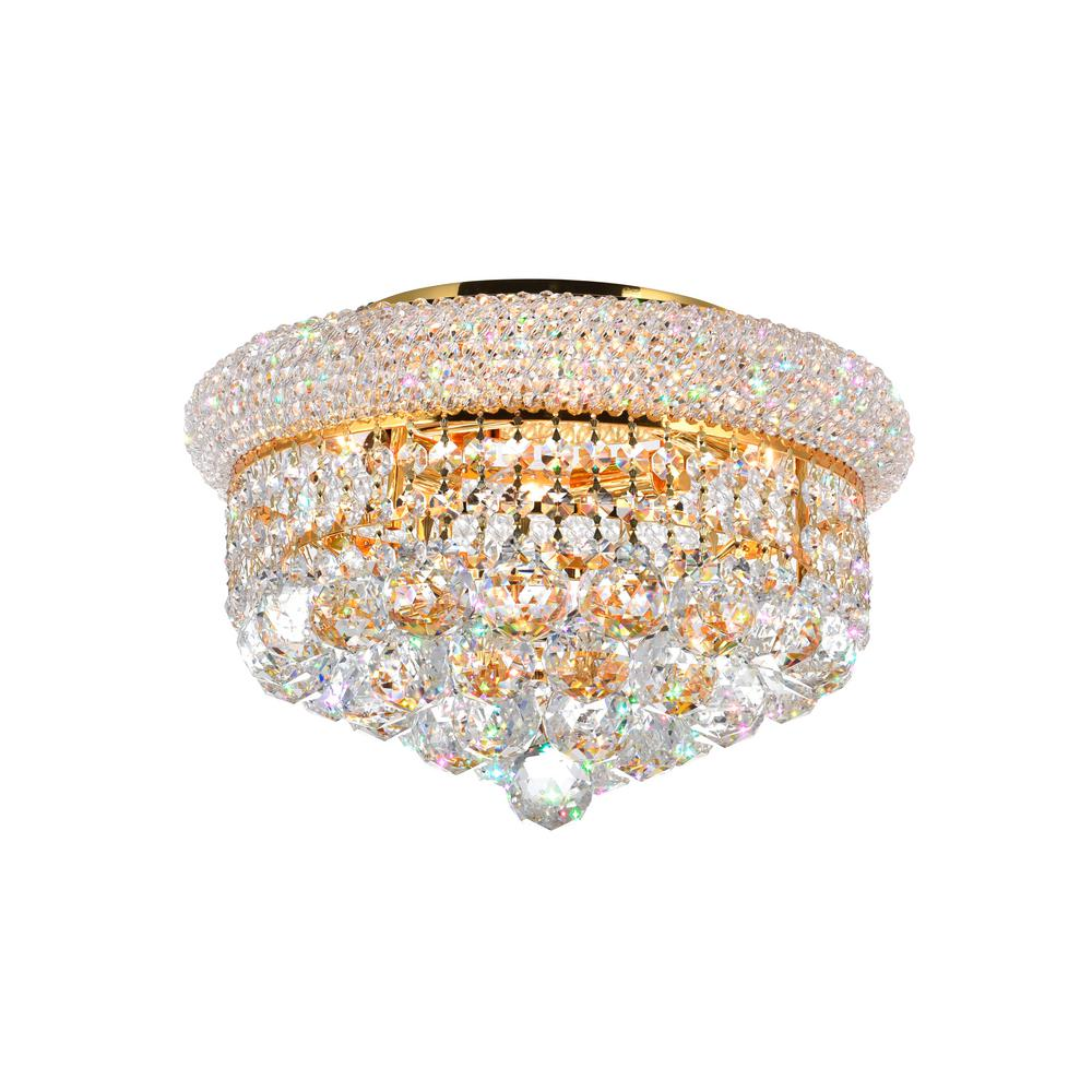 CWI Lighting Empire 3-Light Gold Flushmount