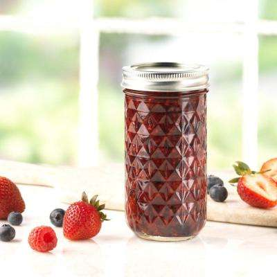 12 oz. Quilted Crystal Jelly Jar (Pack of 12)