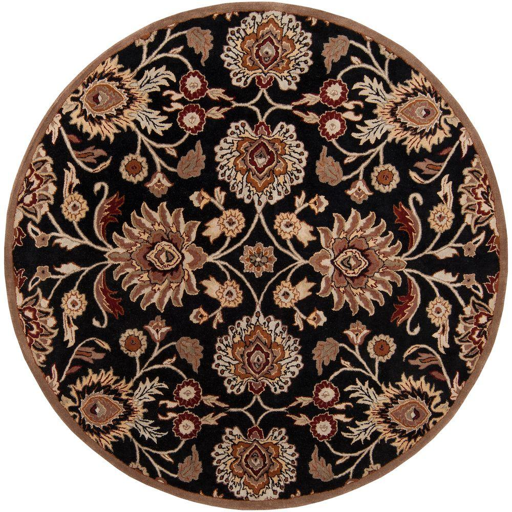 Artistic Weavers Artes Maroon 6 ft. x 6 ft. Round Area Rug